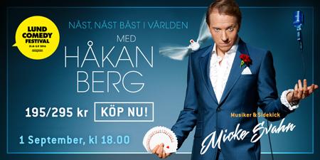 Komikern Håkan Berg underhåller