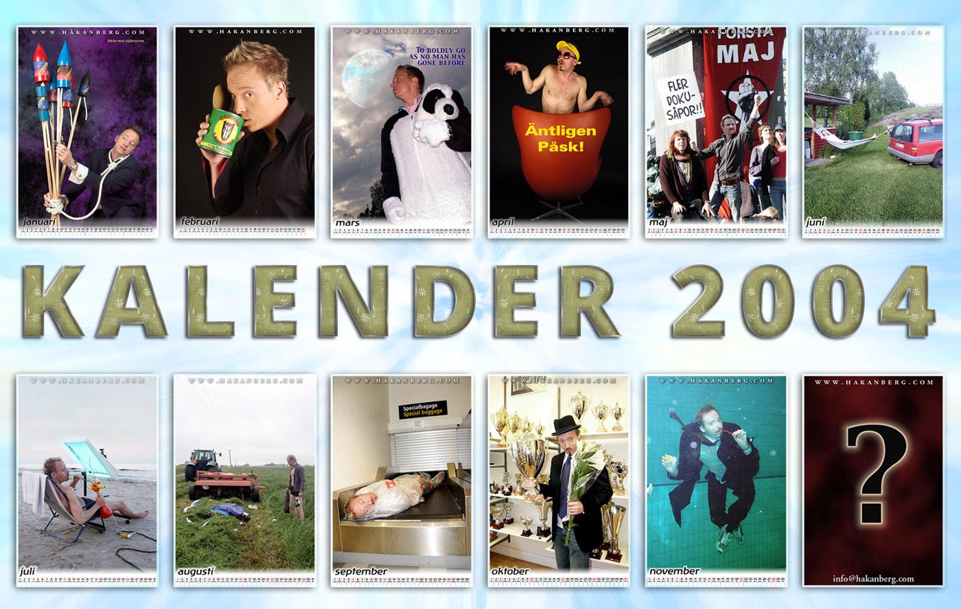 Håkan Bergs Humor-kalender från 2004