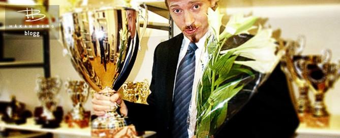 Komikern Håkan Berg vinner priset Årets Artist