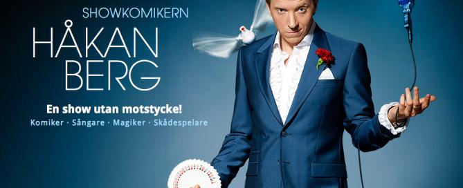 Reklambild för komikern Håkan Bergs showcase