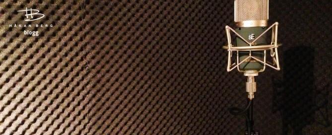 Studiomikrofon i sångbås