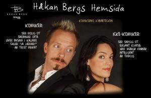 Bild på komikern Håkan Bergs nya hemsida