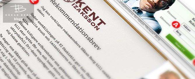 Ett rekommendationsbrev för de som söker jobb